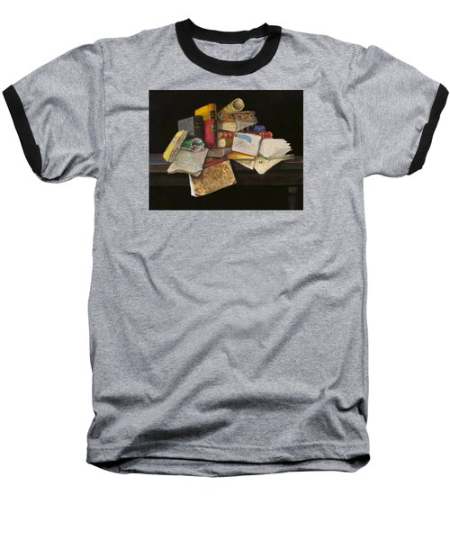 Baseball T-Shirt featuring the painting Old Traditions by Barry Williamson
