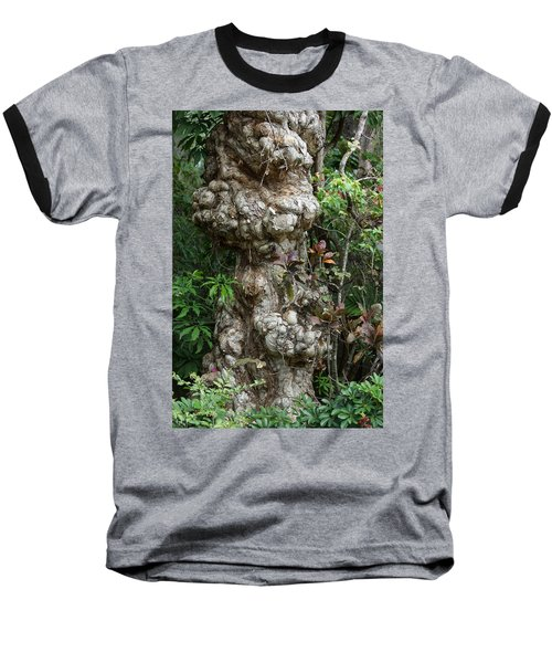 Baseball T-Shirt featuring the mixed media Old Tree by Rafael Salazar