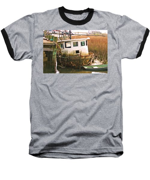 Old Tugboat By Jan Marvin Baseball T-Shirt