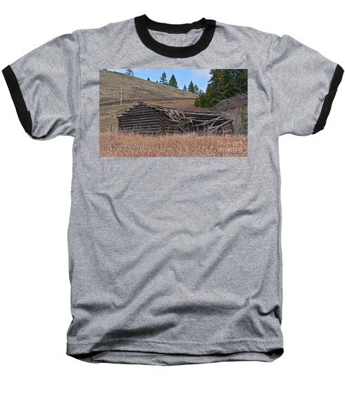 Old Turn Of The Century Log Cabin Homestead Art Prints Baseball T-Shirt by Valerie Garner