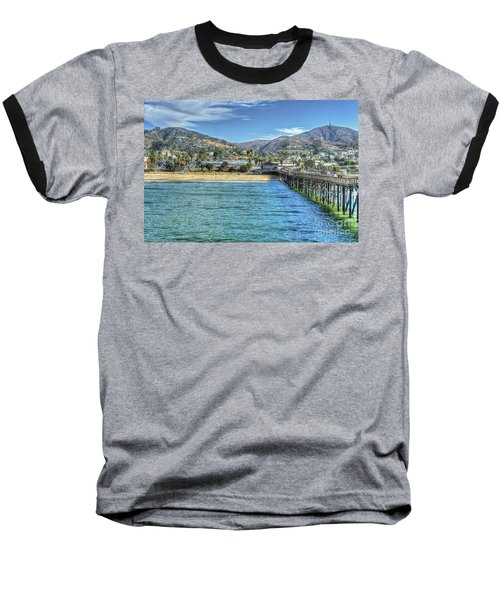 Old Ventura City From The Pier Baseball T-Shirt