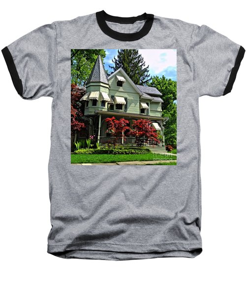Baseball T-Shirt featuring the photograph Old Victorian With Awnings by Becky Lupe