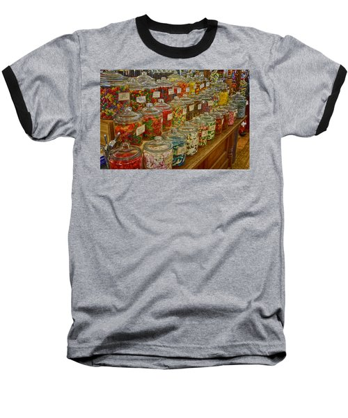 Old Village Mercantile Caledonia Mo Candy Jars Dsc04014 Baseball T-Shirt by Greg Kluempers
