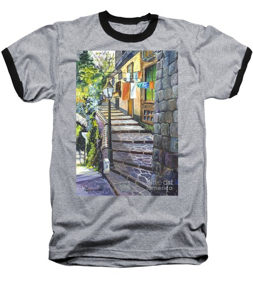 Old Village Stairs - In Tuscany Italy Baseball T-Shirt