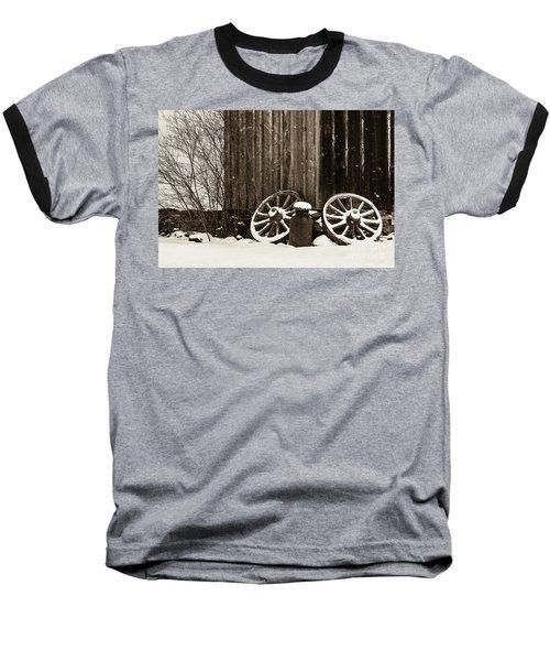 Old Wagon Wheels Baseball T-Shirt