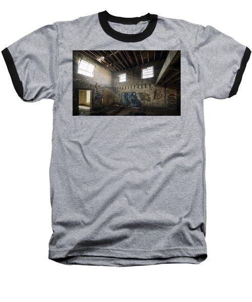 Old Warehouse Interior Baseball T-Shirt by Scott Norris
