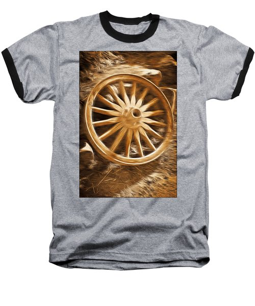 Wheels West Baseball T-Shirt by Aaron Berg