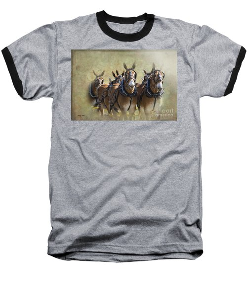Old West Mule Train Baseball T-Shirt