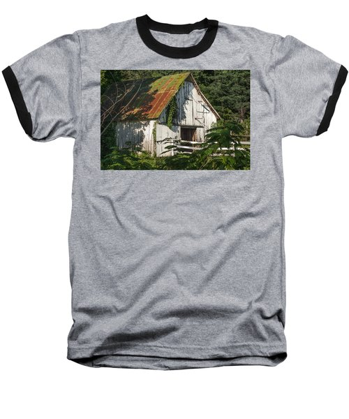 Old Whitewashed Barn In Tennessee Baseball T-Shirt by Debbie Karnes