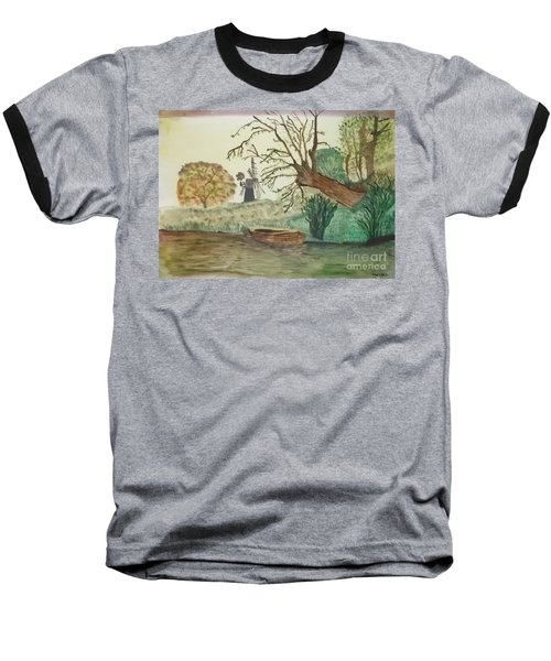 Old Willow And Boat Baseball T-Shirt by Tracey Williams