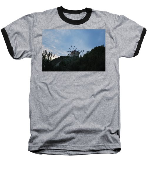 Old Wind Mill 1830 Baseball T-Shirt by George Katechis