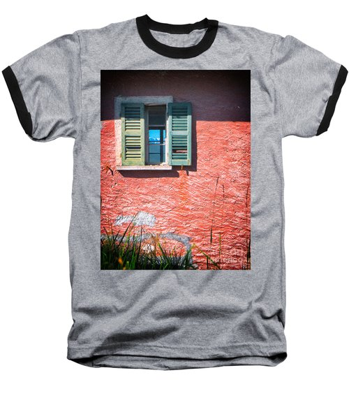 Baseball T-Shirt featuring the photograph Old Window With Reflection by Silvia Ganora