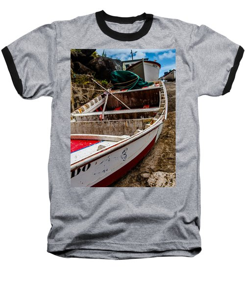 Old Wooden Fishing Boat On Dock  Baseball T-Shirt