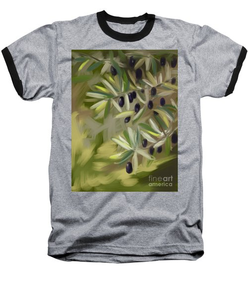 Baseball T-Shirt featuring the painting Olive Tree by Go Van Kampen