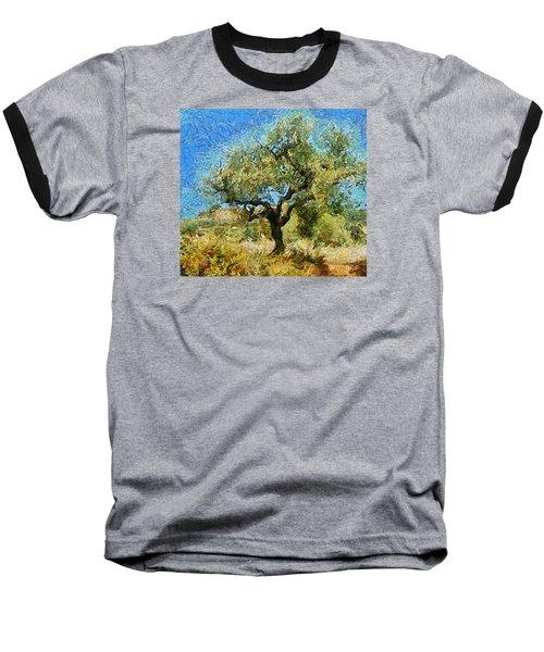 Olive Tree On Van Gogh Manner Baseball T-Shirt by Dragica  Micki Fortuna