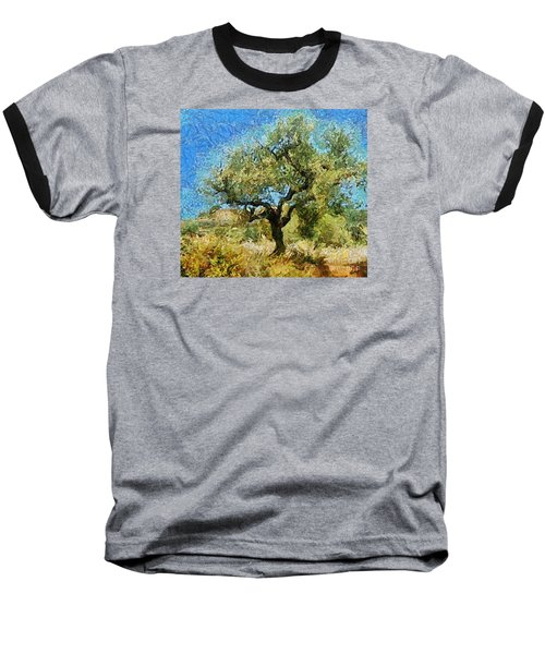 Olive Tree On Van Gogh Manner Baseball T-Shirt