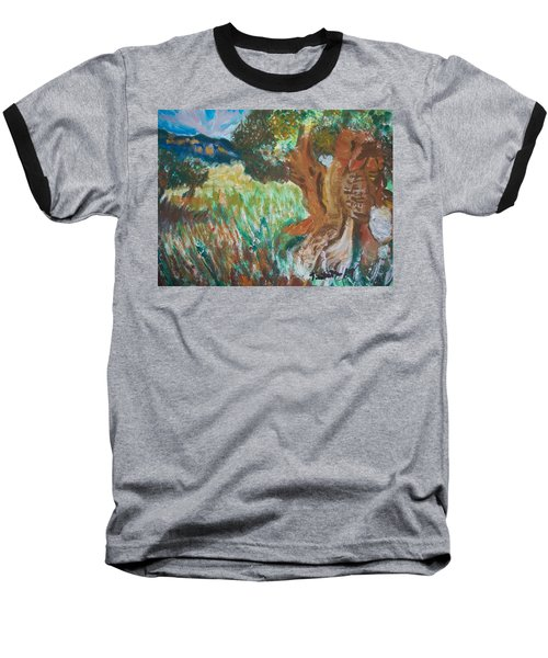Baseball T-Shirt featuring the painting Olive Trees by Teresa White