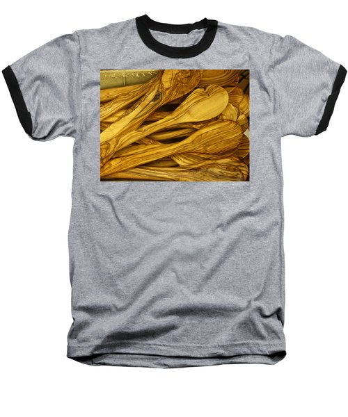 Olive Wood Baseball T-Shirt