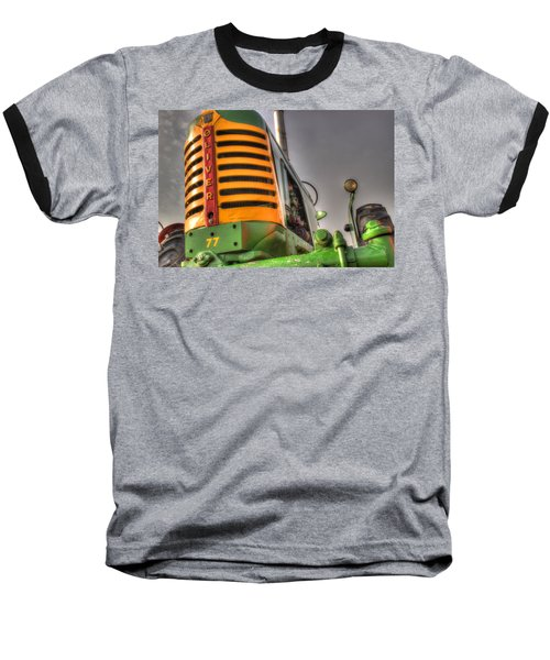 Oliver Tractor Baseball T-Shirt by Michael Eingle