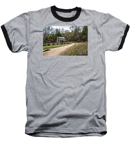 Baseball T-Shirt featuring the photograph Oliver's Log Cabin by Debbie Green