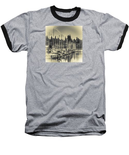 Olympia Marina 1 Baseball T-Shirt by Jean OKeeffe Macro Abundance Art