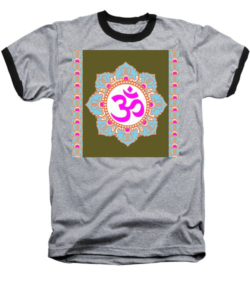 Baseball T-Shirt featuring the photograph Om Mantra Ommantra 3 by Navin Joshi