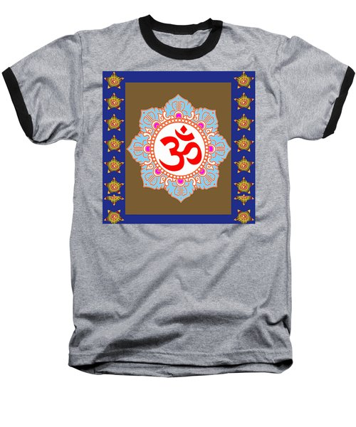 Baseball T-Shirt featuring the photograph Om Mantra Ommantra Chant Yoga Meditation Tool by Navin Joshi