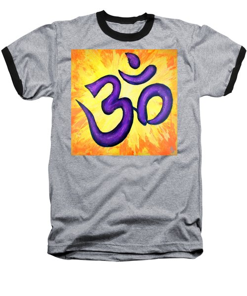 Baseball T-Shirt featuring the painting Om Symbol Art Painting by Bob Baker