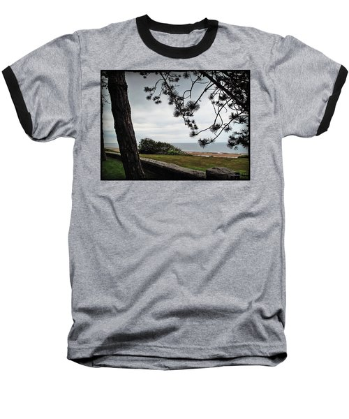 Omaha Beach Under Trees Baseball T-Shirt by Joan  Minchak