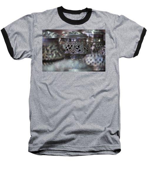 Omani Silver Baseball T-Shirt by Debi Demetrion