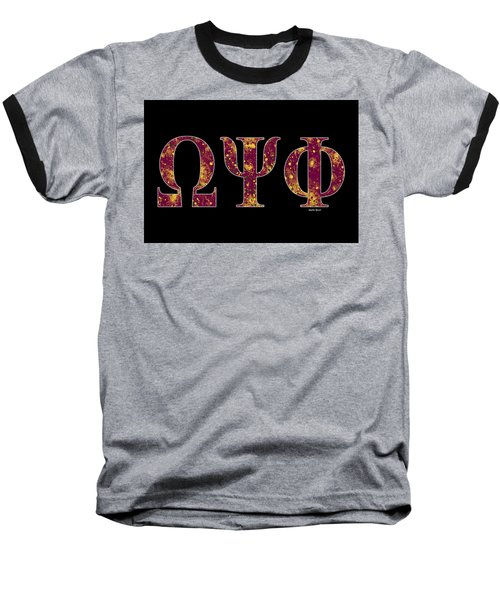 Omega Psi Phi - Black Baseball T-Shirt
