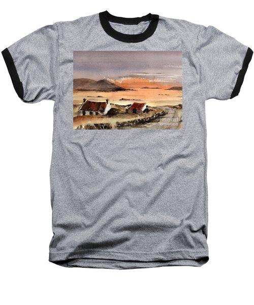 Omey Island Sunset Galway Baseball T-Shirt