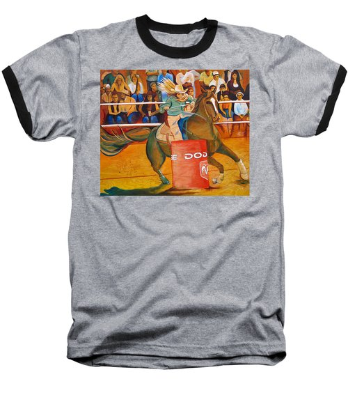 Baseball T-Shirt featuring the painting On A Dime by Joshua Morton