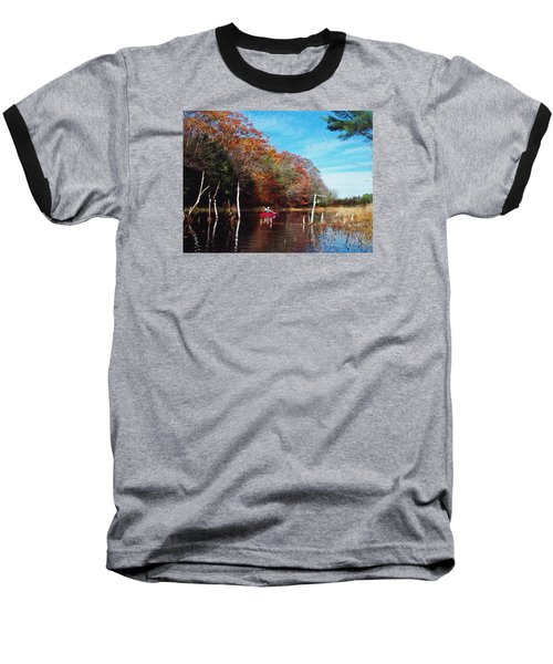 On Schoolhouse Pond Brook Baseball T-Shirt by Joy Nichols