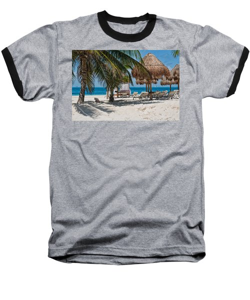 White Sandy Beach In Isla Mujeres Baseball T-Shirt