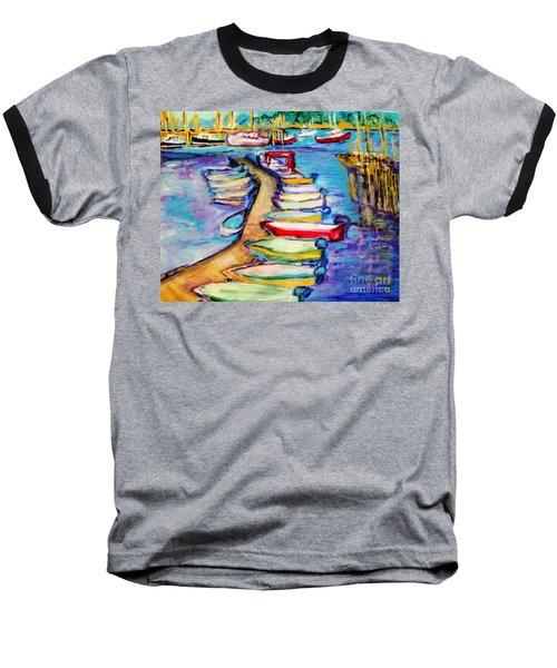 On The Boardwalk Baseball T-Shirt by Helena Bebirian