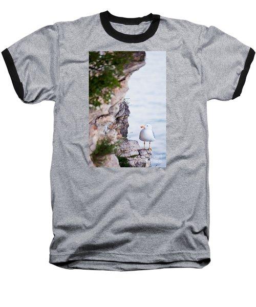 On The Cliffs Of Rocca Di Manerba Baseball T-Shirt