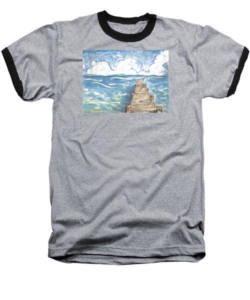 On The Dock Baseball T-Shirt