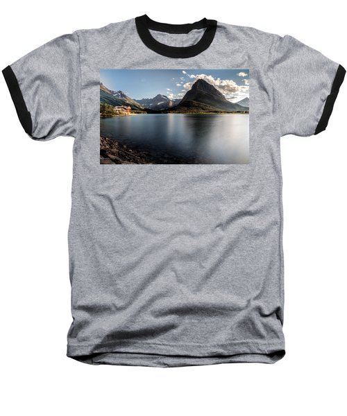 On The Edge Baseball T-Shirt by Aaron Aldrich