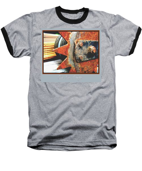 Baseball T-Shirt featuring the photograph On The Edge Edged by Brooks Garten Hauschild