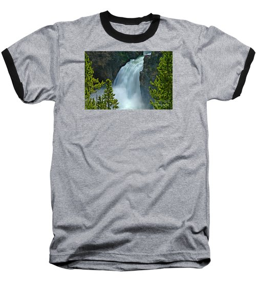 Baseball T-Shirt featuring the photograph On The Edge by Nick  Boren