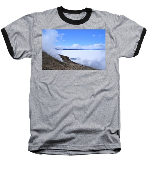 Baseball T-Shirt featuring the photograph On The Edge Of Lake Yellowstone by Michele Myers
