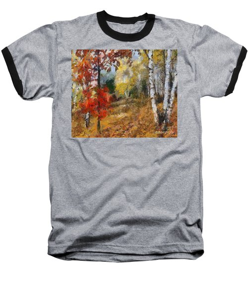On The Edge Of The Forest Baseball T-Shirt by Dragica  Micki Fortuna