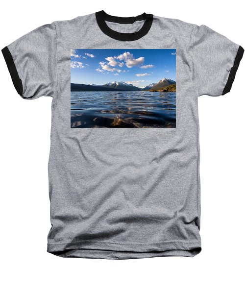 On The Lake Baseball T-Shirt by Aaron Aldrich