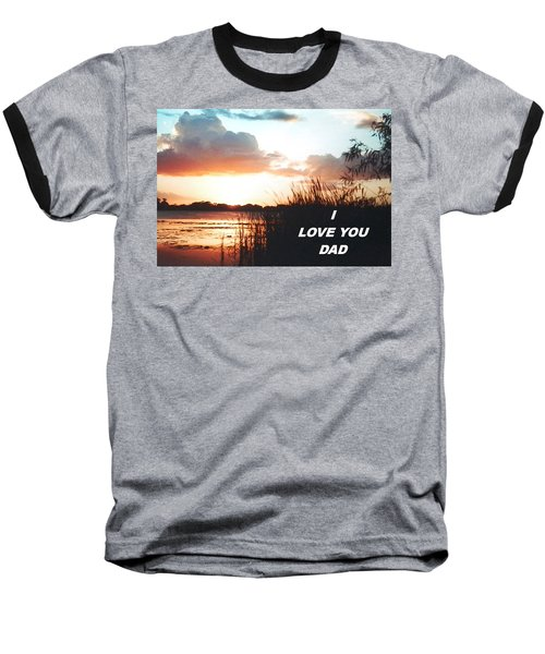 Lake Deer At Sunrise Baseball T-Shirt