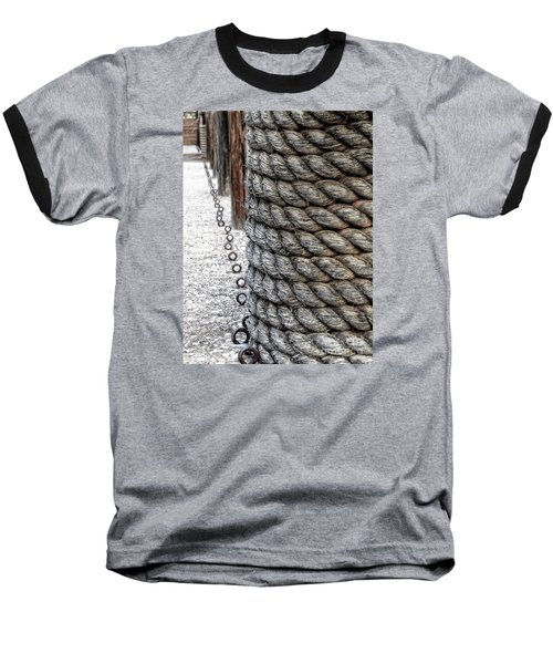 Baseball T-Shirt featuring the photograph On The Marina - Photographic Art by Ella Kaye Dickey