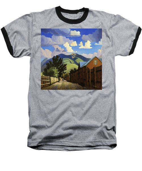 Baseball T-Shirt featuring the painting On The Road To Lili's by Art James West