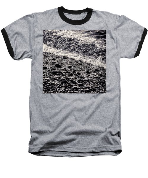 On The Rocks  French Beach Square Baseball T-Shirt