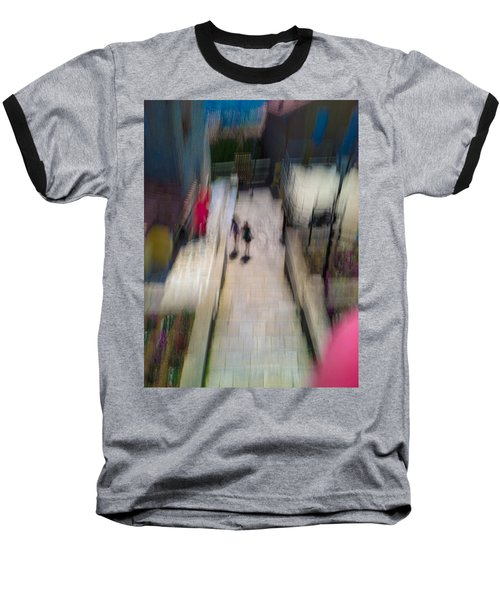 Baseball T-Shirt featuring the photograph On The Stairs by Alex Lapidus