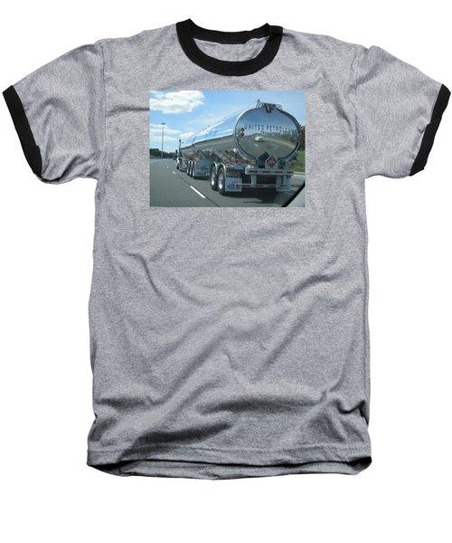 On The Way Baseball T-Shirt by Jieming Wang